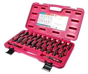 Набор инструментов для ремонта автоэлектропроводки 23 предмета (кейс) JTC-4688