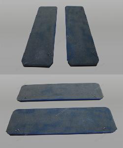 Задние сдвижные платформы для сход-развала (комплект 4 штуки 900х500)